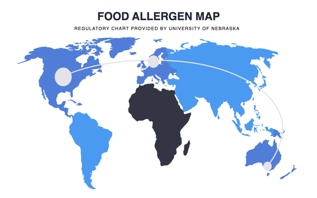 Looking for a chart that tracks listed food allergens around the world? (2020)